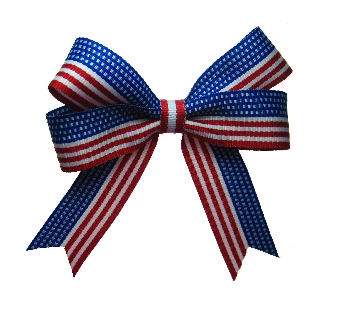 4th of july usa flag ribbon patriotic hair bow in red white
