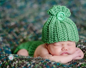 Sack hat and diaper cover set