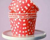 Red Baking Cups - Nut Cups - Candy Cups