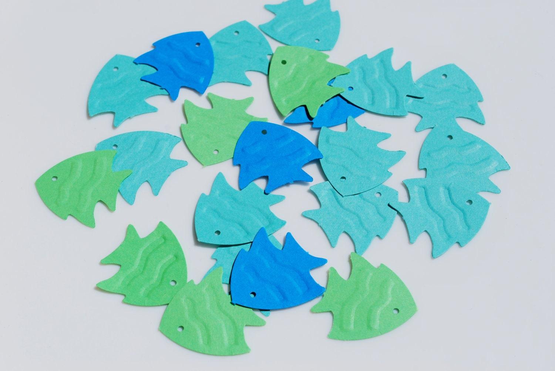 Fish Confetti Fish Die Cuts Fish Craft Punch
