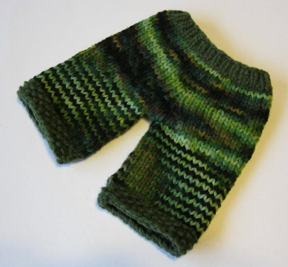 Handknit Wool Longies for Waldorf Dolls