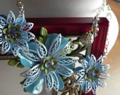 Something Blue - Vintage Brooch Necklace Featured on (Your Carolina) WSPA Channel 7