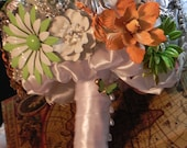 Brooch Bridal Bouquet  .... Deposit Listing