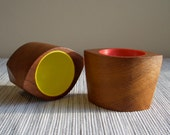 Sowe Konst Sweden Red and Yellow Egg Cups