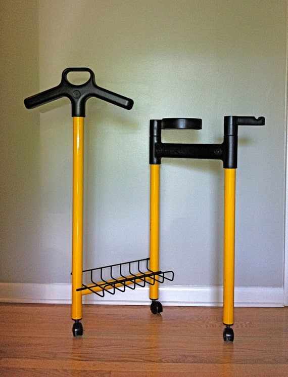 Retro Totem Yellow and Black Valet Designed by Andries Van Onck - Italy