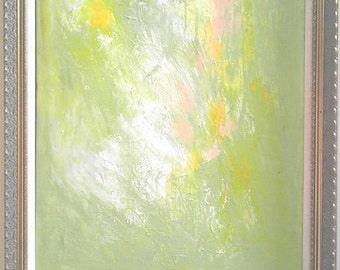 Summer Abstract Art Acrylic Original Abstract Painting Interior Design Interior Decor Home Decor Home Design Yellow Green Spring  Stracth