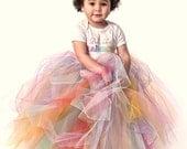 Tutu, Baby Tutu, The Pretty Like a Rainbow extra full reversable tutu skirt