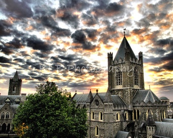Christchurch Cathedral at Sunset - Dublin, Ireland Landscape Photography