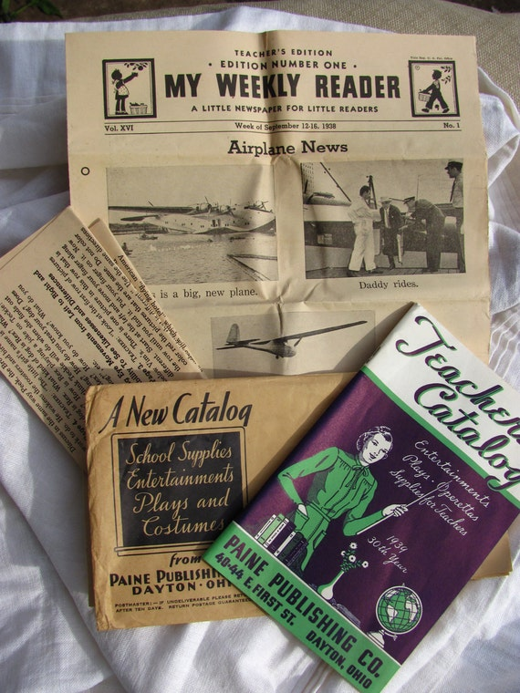 1930s Teacher Paper Ephemera Lot