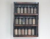 Wooden Spice Rack -Spice Sheving -DREAMATHEME -Wood Shelving - Kitchen Shelves -Kitchen Spice Display - Kitchen Shelving - Kitchen Spices