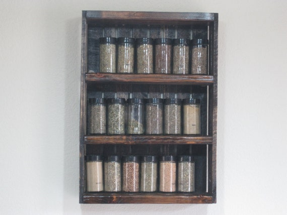 Wooden Spice Rack- Kitchen Shelving, Jacobean