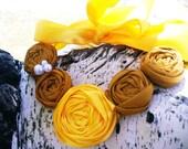 Statement Mustard & Yellow Bib Necklace