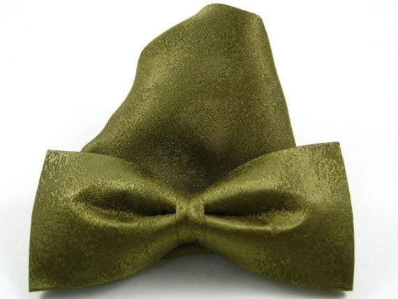 Silk Clip-On Bow Tie w/ Handkerchief