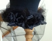 Black Rose Lady - Victorian Gothic Top Hat