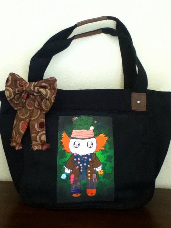Tim Burton's Kawaii Mad Hatter / Hatsune MikuTote Bag / Laptop bag / School bag