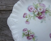 Vintage Warwick China Platter with Thistles and Daisies