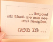 Inspirational Printed Postcard GOD IS series with envelopes