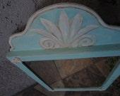 Shabby Chic Vintage Framed Wall Mirror In Tiffany Blue