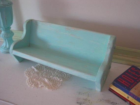 B's Cottage Book Bench in Tiffany Blue