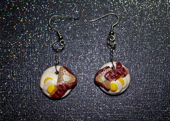 Delicious Bacon and Egg Breakfast Earrings