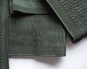 "2 1/2"" Wide Gathered Style Dark Green Stretch Elastic Band (2 Yards)"
