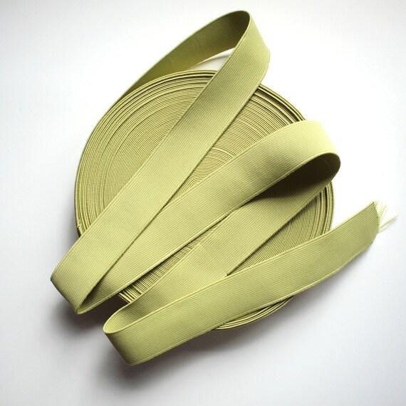 "1 1/4"" Olive Green Stretch Elastic (4 Yards)"