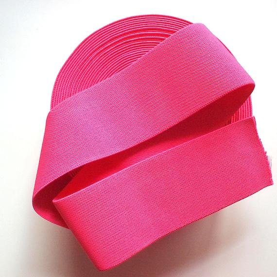 "NEW STOCK 3"" Bright Pink Stretch Elastic Band. (1 Yard)"
