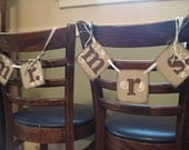 Mr and Mrs Chair Tags Mr/Mrs Banners Wedding Garland Mr/Mrs Chair Signs Reception Decor Photo Props You Pick the Colors