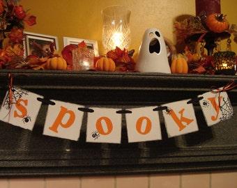 Halloween Decorations - SPOOKY Banner - Halloween Garland - Halloween Banners - Spooky Halloween Party Sign /Halloween/Photo Prop-