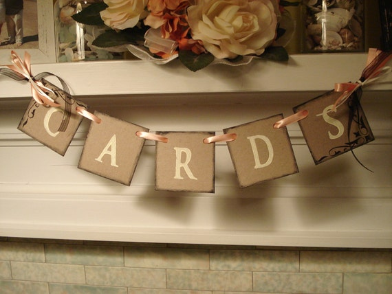 Mini Cards Wedding Reception Decoration Bridal and Baby Shower Graduations Card Box Garland You pick the Colors