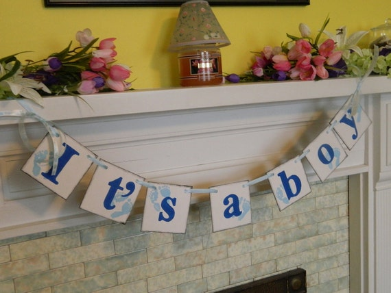 It's a BOY Baby Shower Decoration New Baby Birth Announcement Banner Photo Prop Nursery Decoration Customize in Your Event Colors
