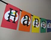 Art Palette Party Banner- Rainbow