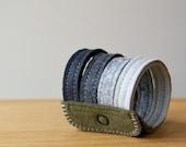 Clouds: Made To Order Handmade Wool Felt Cuff Bracelet Wristband by LoftFullOfGoodies