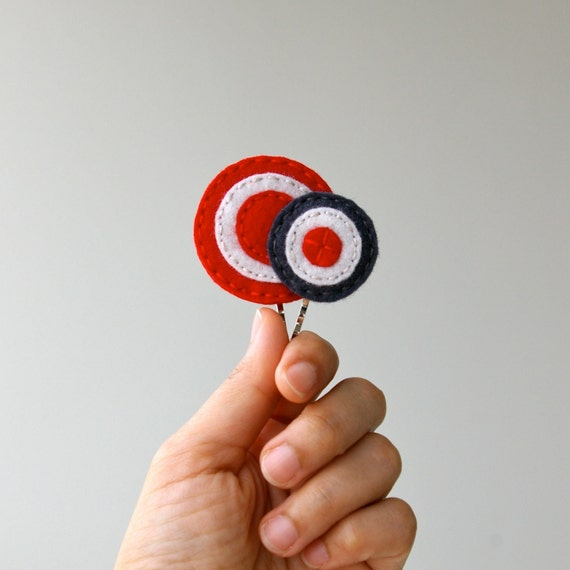 Target: Wool Felt Bobby Pins by LoftFullOfGoodies (Ready To Ship)