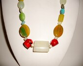 Multi-gem and Sterling Silver Necklace