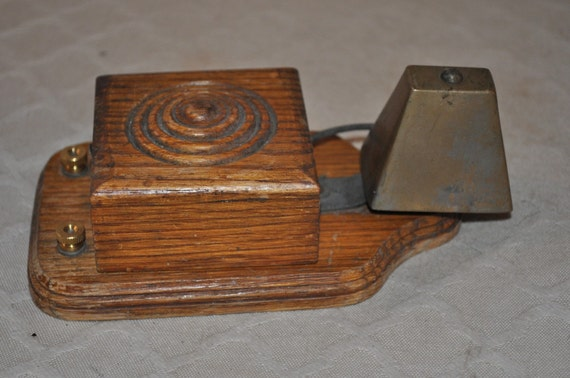 Victorian Wood Doorbell Vintage And Electric