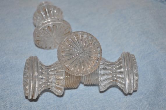 Victorian Antique Decorative Cabinet Knobs - Cut Glass (4)