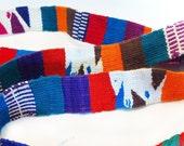 Mexican Woven Belt / Sash, Blanket Stripe, Dudes, 1980s