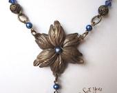 Blue Tulip Necklace