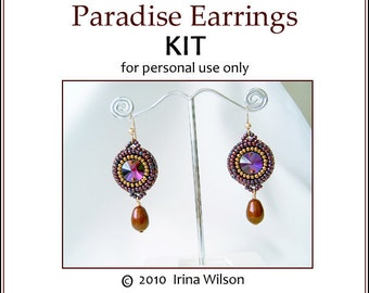 KIT (instructions and materials) - Paradise Earrings