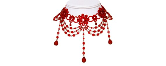 KIT (instructions and materials) - Red Crystal Choker