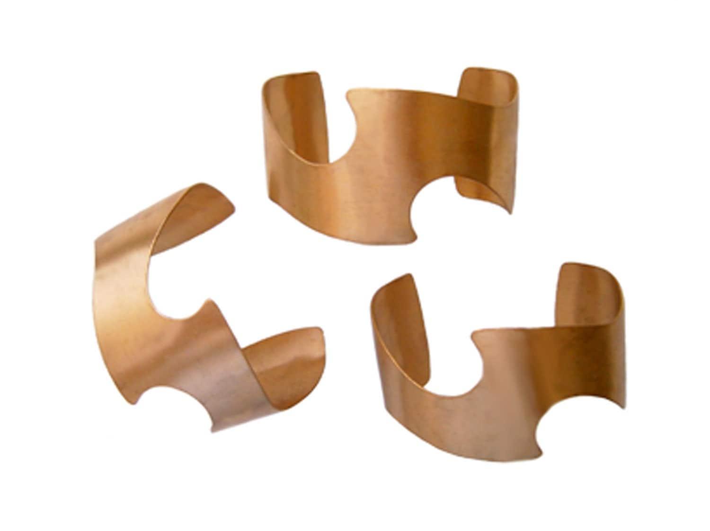 Plastic Cuff Bracelet Blanks 3 Cuff Bracelet Blanks Brass