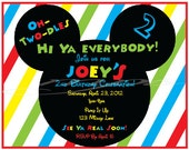 NEW - Mickey Mouse Invitations, set of 12 including envelopes