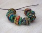 Big Handmade Brass-Fiber Bead for Artisan Jewelry Designs