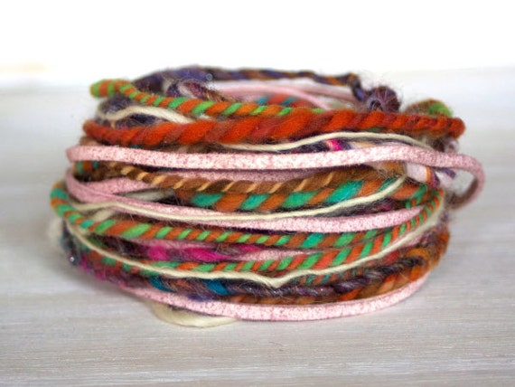 Novelty Yarn Bundle for Embellishment, Spinners, Felters, Crafters