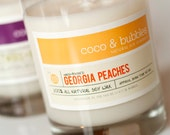 No. 115: GEORGIA PEACHES  // Natural Soy Candle // 13 oz // Highly Scented