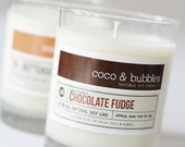 No. 140: CHOCOLATE FUDGE  // Natural Soy Candle // 13 oz // Highly Scented