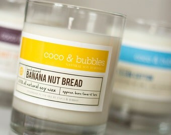 No. 121: BANANA NUT BREAD // Natural Soy Candle // 13 oz // Highly Scented