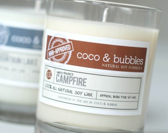 No. 132: CAMPFIRE // Natural Soy Candle // 13 oz // Highly Scented (Man-Approved)