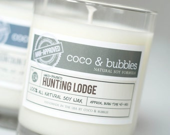 No. 134: HUNTING LODGE  // Natural Soy Candle // 13 oz // Highly Scented (Man-Approved)